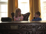 Hannah and Bryan in the presidential room in the Magic House in St Louis 03202011