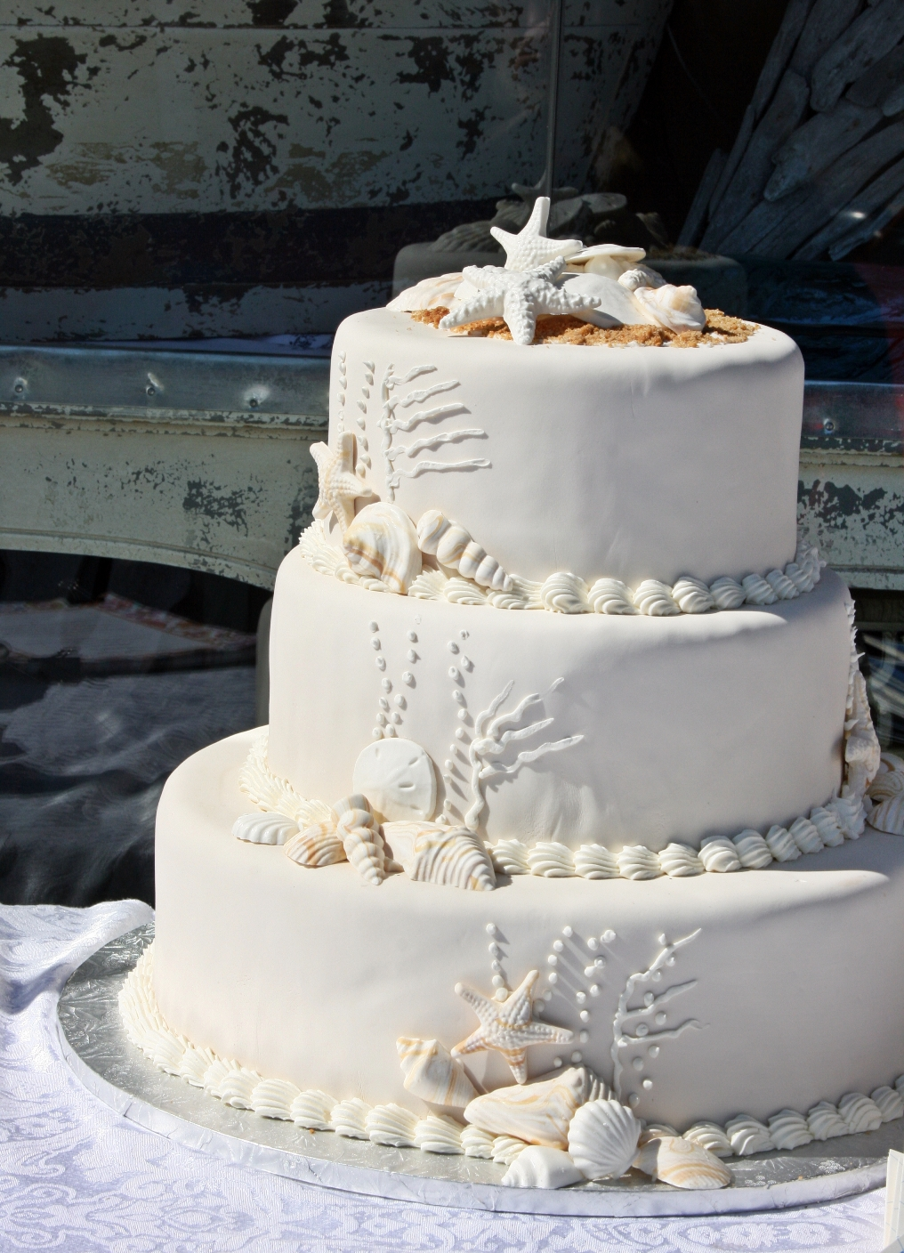 wedding cake beach