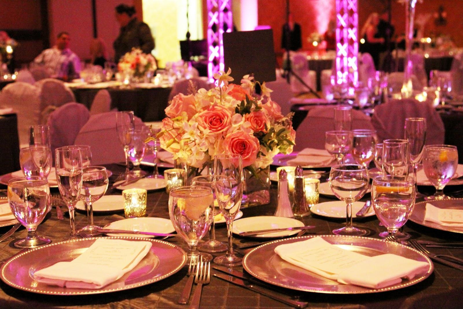 wedding buffet centerpieces