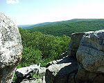 View from Chimney Rock in Summer, Catoctin Mountain Park, Thurmont, Maryland.