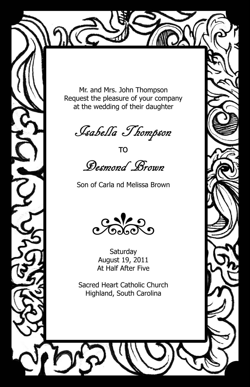 prom invitation templates free