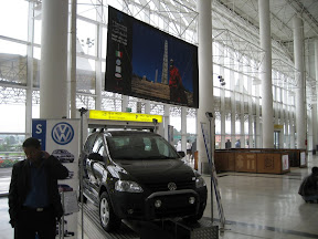 A lone VW on display.