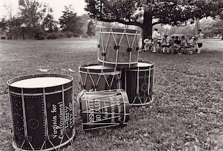 """One of my favorites - Another CW photo by CW photographers, and called """"Practice"""" Circa 1967.  This was shot on the back lawn of the """"Crazy House"""" if I'm not mistaken.  It made a number of publications also.  I remember the photographer positioned the drums just right and starting shooting.   I recognize a blurry few in the background.  I've got a high res of this if anyone wants it"""