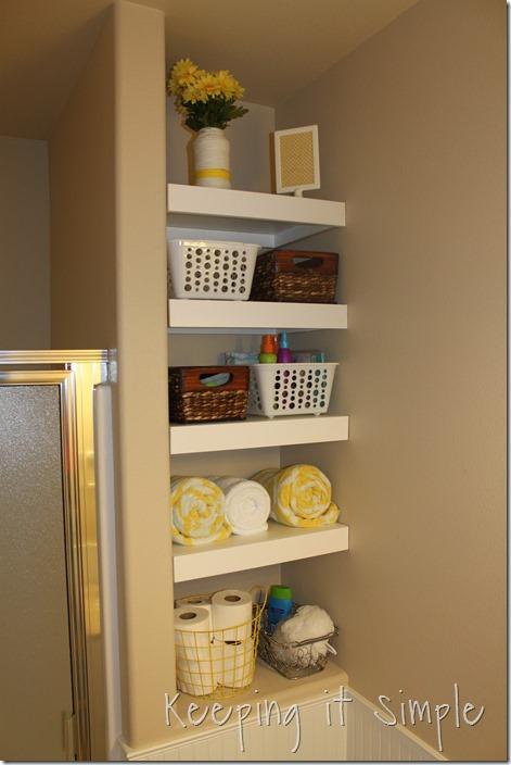 Diy Shelves For A Small Bathroom 13