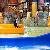 Bryan going down a water slide at Kalahari in OH 02182012b