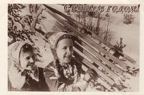 Новогодние открытки ссср история