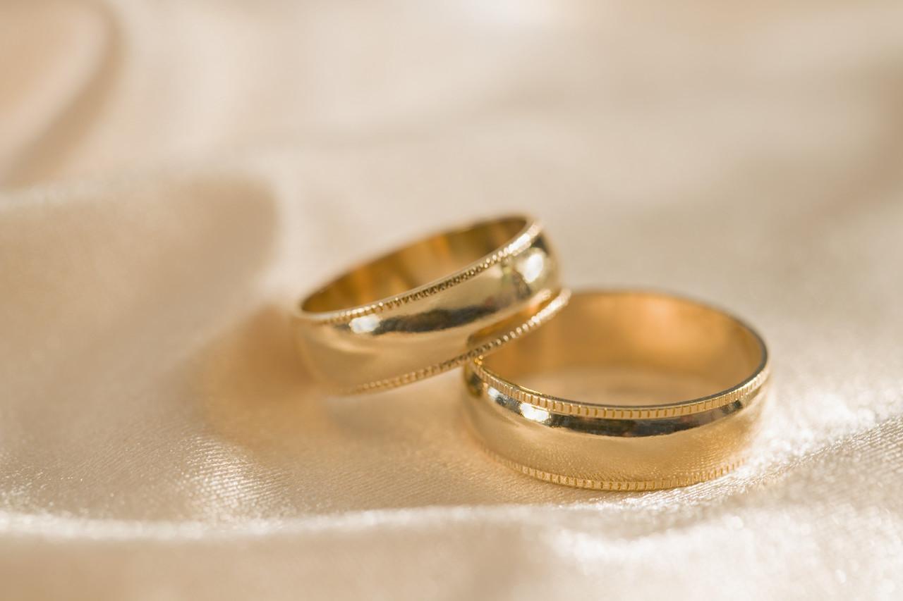 three gold hebrew wedding