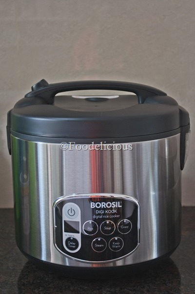 Foodelicious- Borosil Rice Cooker Review
