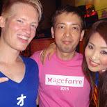 Matt, Rena & famous DJ BOSS in Tokyo, Tokyo, Japan