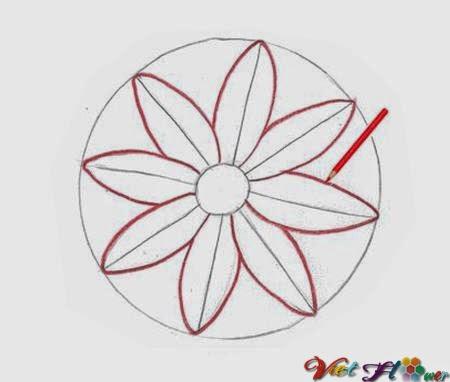 vẽ hoa cúc bằng bút chì