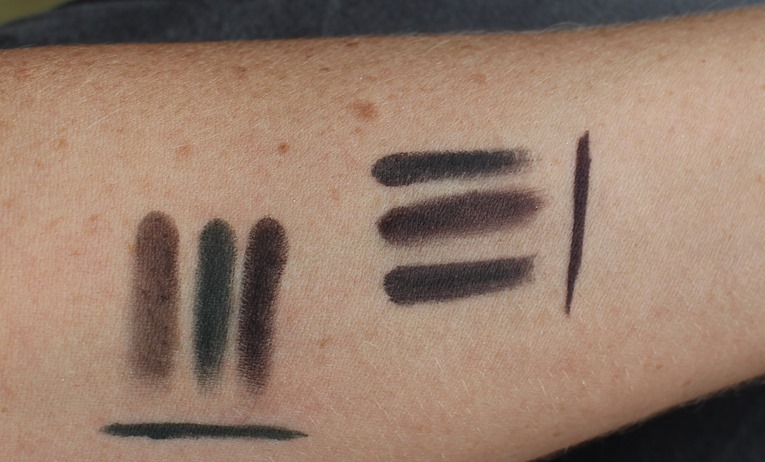 BobbiBrown-Intense-Pigment-Liner-Black-Plum-Forest-swatches
