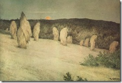Theodor_Kittelsen_-_Kornstaur_i_måneskinn,_ca_1900_(Stooks_of_Corn_in_Moonlight)