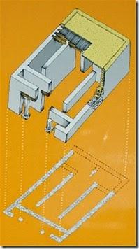 Ileta dels Banyets - reconstrucción ideal del templo A