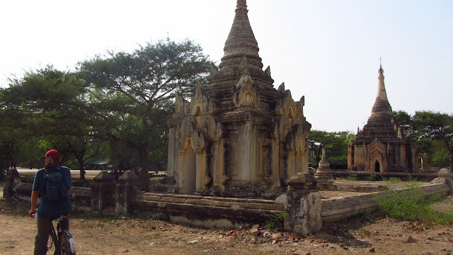 While flat, the May temperatures in Bagan were scorching. Many locals take siestas inside the temples to beat the heat.