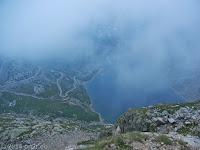 Hoch zum Colle del Nivolet. Blick zurück auf den Lago Agnel.