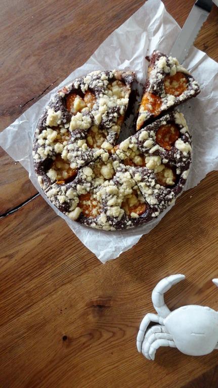 Schokoladen - Aprikosen - Kuchen