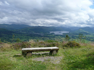 Keswick & Derwentwater from viewpoint near Dodd Summit