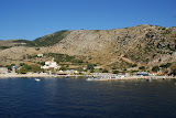 Uitzicht vanaf de veerboot naar Kefalonia.