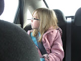 Hannah enjoying the sites in St Louis in our rental car 03192011