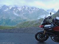 Col du Galibier (2645 m), Südrampe. Weiter zum Col du Lautaret (2058 m).