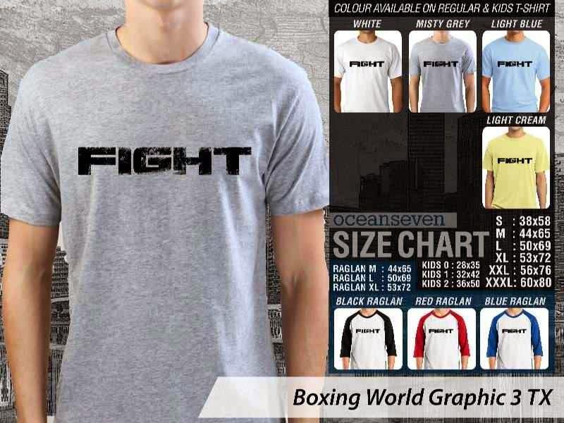Kaos Olah Raga Sport Boxing World Graphic 3 distro ocean seven