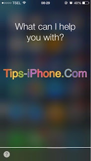 Cara Menggunakan Perintah SIRI di iPhone
