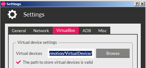 Change VM saving location