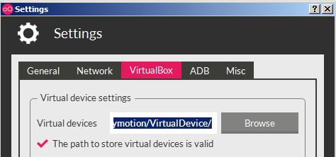 Change VM saving location