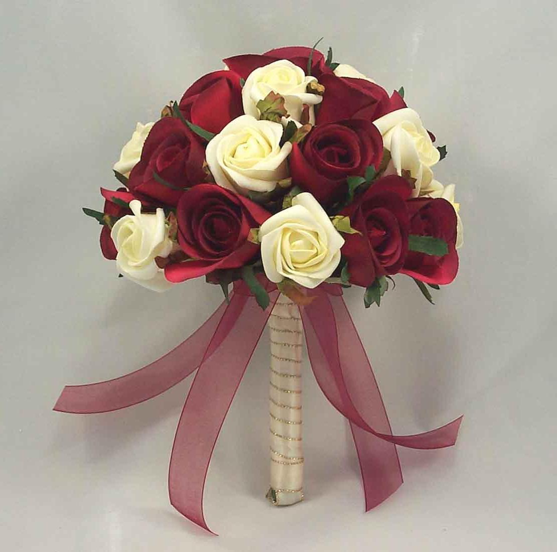 maroon wedding flowers