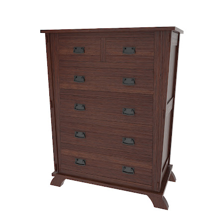 Baroque Vertical Dresser in Stormy Walnut