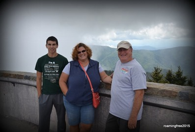 At the summit of Mt. Mitchell