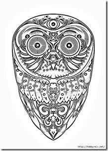 dibujos de buhod en blanco y negro (11)