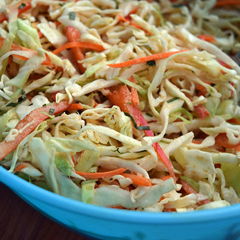 Asian Almond Cabbage Slaw