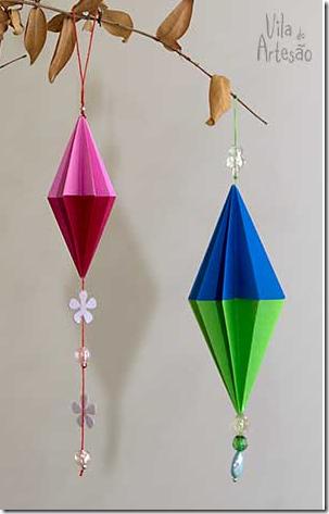 adornos de Navidad origami