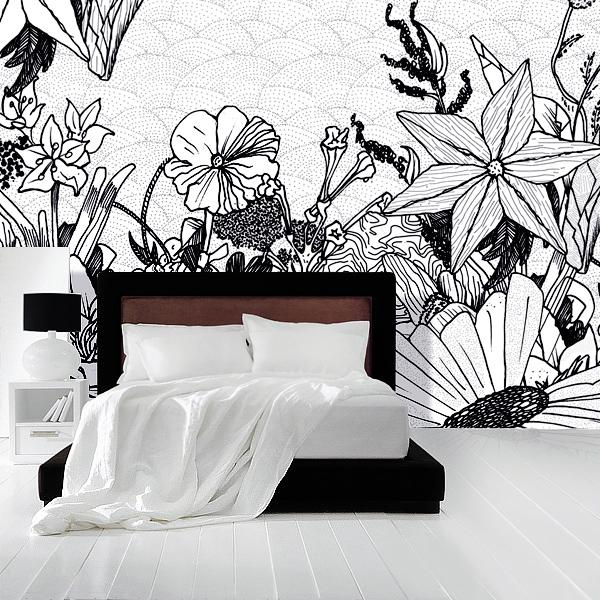 tapeten zum ausmalen. Black Bedroom Furniture Sets. Home Design Ideas