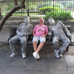 Lori with 2 street statues in New Orleans 07242012-01
