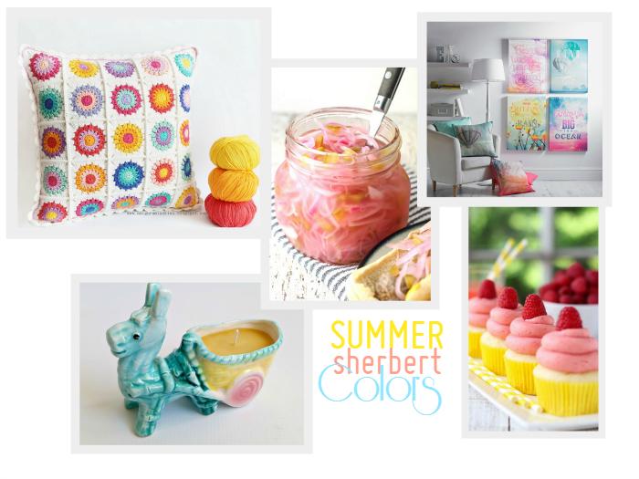 Summer Sherbert Colors via homework