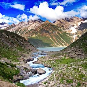 SheshNag Lake by Vijay Nagaonkar - Landscapes Mountains & Hills