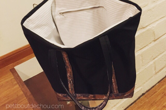Vanessa B. style bag with sequins DIY finished