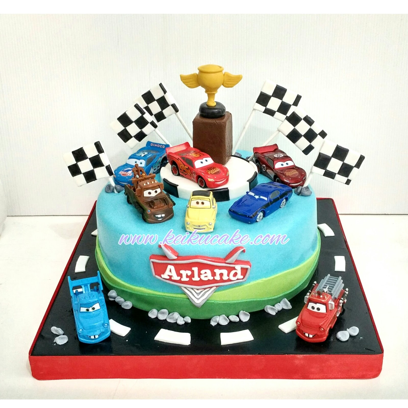 Keiku Cake Cars Theme Birthday Cake