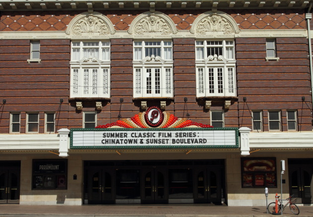 Classic looking theater in downtown Austin historic district