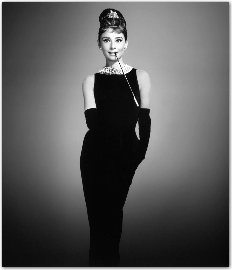 just like Audrey Hepburn