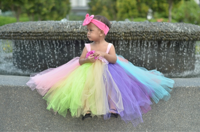 Kid in Colourful Tutu Dress | Photoshoot by jmrdotcom