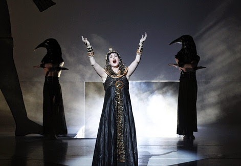 DYNAMIC DIVA FROM DOWN UNDER: Mezzo-soprano DEBORAH HUMBLE as Amneris in Giuseppe Verdi's AIDA at Opera Australia, 2013 [Photo by Jeff Busby, © by Opera Australia]