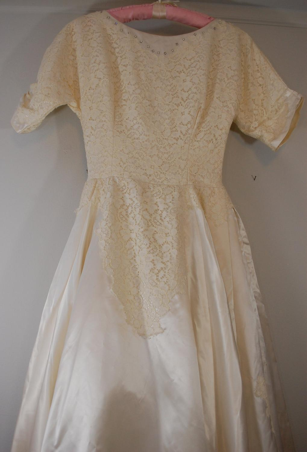 Sleeve Wedding Dress 1960s