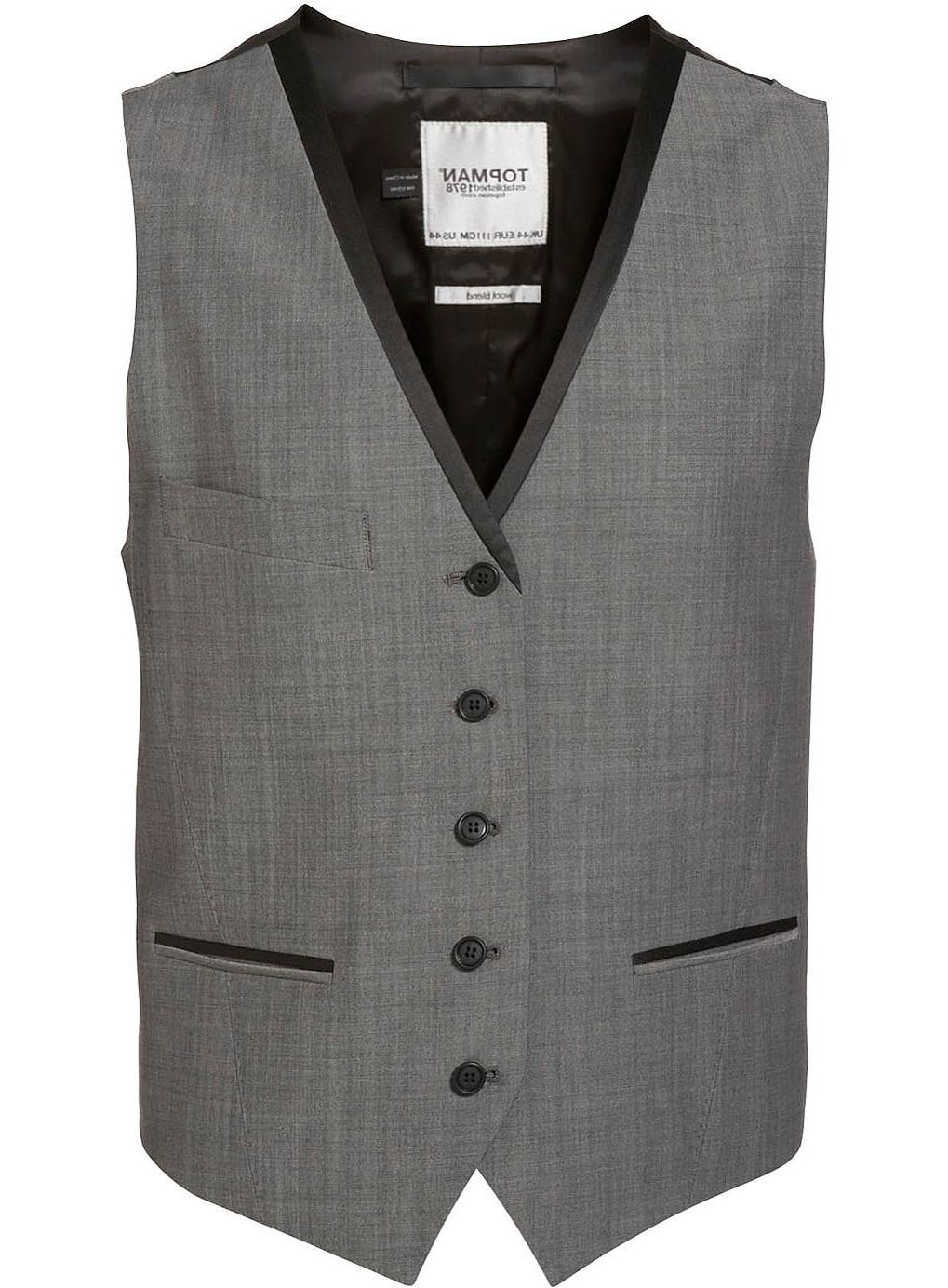 Grey Black Tux Waistcoat