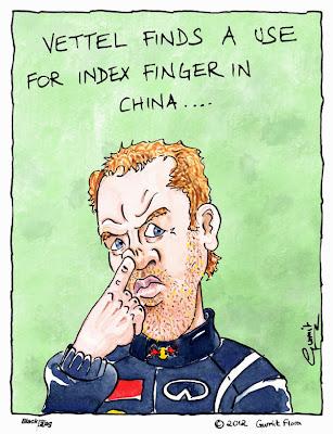 Себастьян Феттель ковыряется в носу на Гран-при Китая 2012 - комикс Black Flag