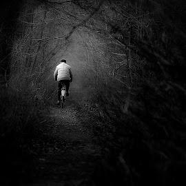 nowhere by Paweł Spiżak - Black & White Street & Candid