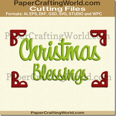 christmas blessings title corners ppr-cf-450
