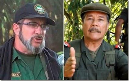 Comandantes Timoleón Jiménez -FARC-EP- y Nicolás Rodríguez -ELN